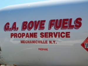 G.A. Bove Fuels propane tank