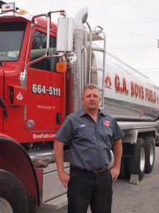 G.A. Bove Fuels truck with driver